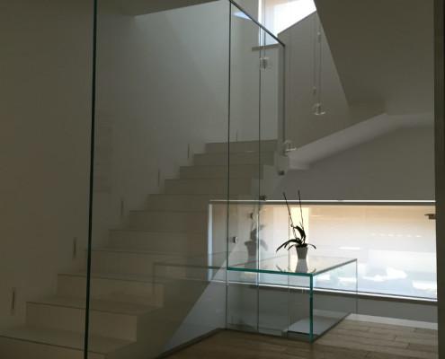 scala vetro temperato extrachiaro Monza Milano